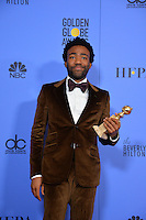 Donald Glover at the 74th Golden Globe Awards  at The Beverly Hilton Hotel, Los Angeles USA 8th January  2017<br /> Picture: Paul Smith/Featureflash/SilverHub 0208 004 5359 sales@silverhubmedia.com