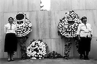 Funeral del ex presidente Salvador Allende en Santiago despuves de ser trasladado desde el cementerio de Vina del Mar donde permanecivo tras su muerte al ser derrocado por la junta militar encabezada por Augusto Pinochet. <br /> Santiago Chile 4 Septiembre 1990Forty years ago, on September 11, 1973, a military coup led by General Augusto Pinochet toppled the democratic socialist government of Chile. President Salvador Allende was killed during the  attack to seize  La Moneda presidential palace.  In the aftermath of the coup, a quarter of a million people were detained for their political beliefs, 3000 were killed or disappeared and many thousands were tortured.<br /> Some years later in 1981, while Pinochet ruled Chile with iron fist, a young photographer called Juan Carlos Caceres started to freelance in the streets of Santiago and the poblaciones or poor outskirts, showing the growing resistance against the dictatorship. For the next 10 years Caceres photographed every single protest and social movement fighting for the restoration of democracy. He knew that his camera was his only weapon, he knew that his fate was to register the daily violence and leave his images for the History.<br /> In this days Caceres is working to rescue and organize his collection of images in the project Imagenes de la Resistencia   . With support of some Chilean official institutions, thousands of negatives are digitalized and organized to set up the more complete visual heritage of this  violent period of Chile´s history.<br /> In a time when technology was not very friendly and communications were kind of basic, Juan Carlos Caceres and other photojournalist were always at the right place in the right moment defying the threats of the police. Their work is now  a visual heritage that documents and remind us the fight of Chilean people for democracy.