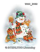 GIORDANO, CHRISTMAS SANTA, SNOWMAN, WEIHNACHTSMÄNNER, SCHNEEMÄNNER, PAPÁ NOEL, MUÑECOS DE NIEVE, paintings+++++,USGI2882,#X# ,#161#