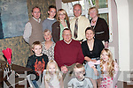 PARTY: Celebrating his 70th birthday in Allos Restaurant Listowel on Thursday evening was Jeff Broadshaw, Kilmorna, Listowel, with his family. Pictured in front from left are Daniel, Aoife, Ben and Pipa Harnett. Seated from left are Brenda Broadshaw, Jeff Bradshaw, Tracy Harnett. Back from left, PJ, Niall, Amy, Paty Harnett and Phyllis Harnett. .
