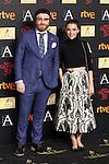 Dani de la Torre and Leticia Dolera attend the 2016 Goya Nominee party in Madrid, Spain. January 26, 2015. (ALTERPHOTOS/Victor Blanco)
