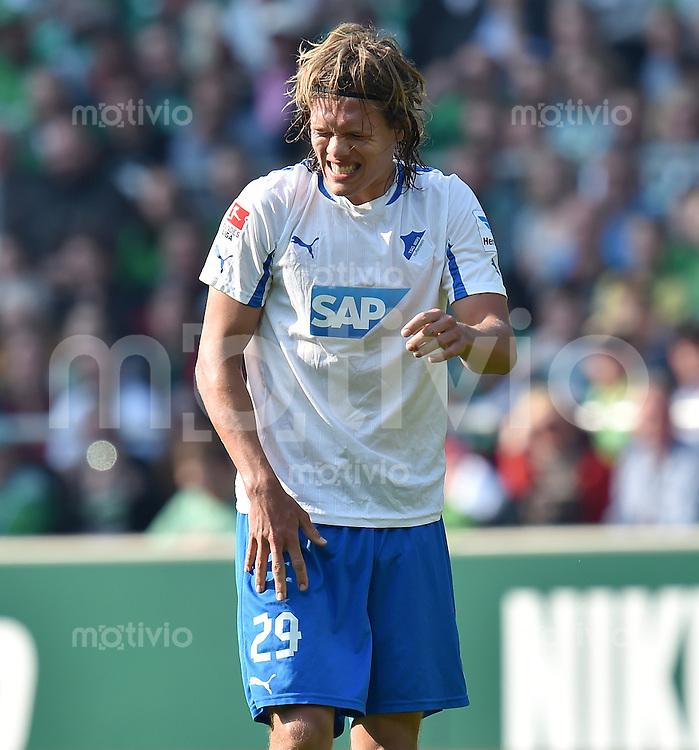 FUSSBALL   1. BUNDESLIGA   SAISON 2013/2014   31. SPIELTAG SV Werder Bremen - 1899 Hoffenheim                   19.04.2014 Jannik Vestergaard (1899 Hoffenheim)