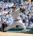 Hiroki Kuroda (Yankees),.MAY 12, 2013 - MLB :.Hiroki Kuroda of the New York Yankees pitches during the baseball game against the Kansas City Royals at Kauffman Stadium in Kansas City, Missouri, United States. (Photo by AFLO)