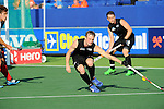 The Hague, Netherlands, June 01: Hugo Inglis #29 of New Zealand defends during the match during the field hockey group match (Men - Group B) between the Black Sticks of New Zealand and Korea on June 1, 2014 during the World Cup 2014 at GreenFields Stadium in The Hague, Netherlands. Final score 2:1 (1:0) (Photo by Dirk Markgraf / www.265-images.com) *** Local caption ***