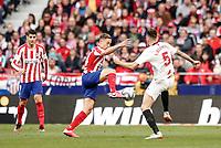 7th March 2020; Wanda Metropolitano Stadium, Madrid, Spain; La Liga Football, Atletico de Madrid versus Sevilla; Marcos Llorente (Atletico de Madrid)  in action during the match