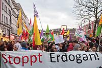 2018/01/20 Berlin | Kurden-Protest gegen türkischen Agriff auf Afrin