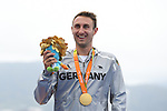 Martin Schulz (GER), <br /> SEPTEMBER 10, 2016 - Triathlon : <br /> Men's Individual Paratriathlon PT4 Medal Ceremony<br /> at Fort Copacabana<br /> during the Rio 2016 Paralympic Games in Rio de Janeiro, Brazil.<br /> (Photo by AFLO SPORT)