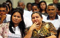 """BELEM , PA , 24.10.2013 - JULGAMENTO ASSASSINATO SINDICALISTA -  Maria Joel da Costa viúva do sindicalista José Dutra da Costa, o """"Dezinho"""", assassinado em Rondon do Pará (PA) em 21 de novembro de 2000, acompanha o julgamento dos  acusados de envolvimento no  assassinato do seu marido. O julgamento teve início  na manhã desta quinta -feira (24) no Fórum Criminal em Belém do Pará.<br /> Foto: Lucivaldo Sena / Brazil Photo Press"""