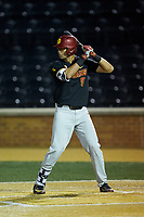 Blake Sabol (5) of the USC Trojans at bat against the Wake Forest Demon Deacons at David F. Couch Ballpark on February 24, 2017 in  Winston-Salem, North Carolina.  The Demon Deacons defeated the Trojans 15-5.  (Brian Westerholt/Four Seam Images)