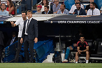 Uefa Champions League football match Real Madrid vs AS Roma at the Santiago Bernabeu stadium in Madrid on September 19, 2018.<br /> <br /> Julen Lopetegui