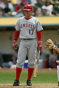 Darin Erstad, of the Los Angeles Angels, in action against the Oakland A's during their game on April 22, 2006...Angels win 5-4..Rob Holt / SportPics