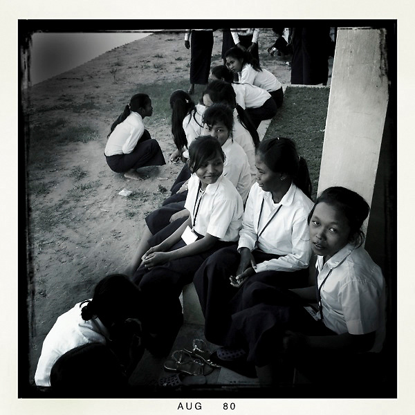 Girls from a Room to Read program, a 10x10 partner, in Siem Reap, Cambodia.