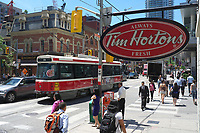 Toronto,  CANADA - File Photo - Downtown Toronto - Tim Horton coffee shop<br /> <br /> Photo :  Agence Quebec Presse - Pierre Roussel