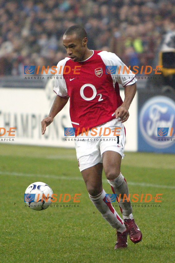 MILANO 25/11/2003 <br /> Champions League Inter Arsenal 1-5<br /> Thierry Henry (Arsenal)<br /> Photo Andrea Staccioli Insidefoto