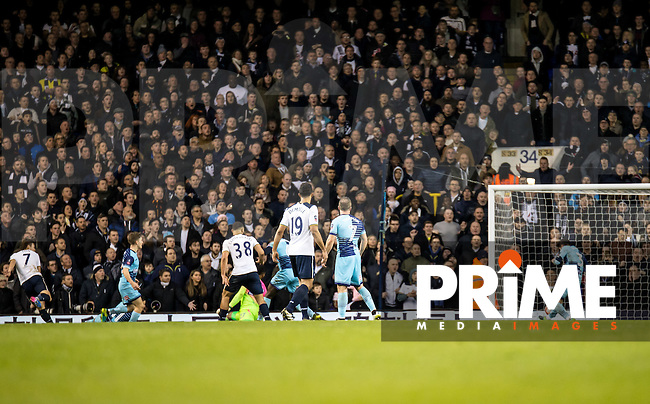 Son Heung-Min of Tottenham Hotspur scores the winning goal during the FA Cup 4th round match between Tottenham Hotspur and Wycombe Wanderers at White Hart Lane, London, England on the 28th January 2017. Photo by Liam McAvoy.