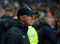 2nd November 2019; Etihad Stadium, Manchester, Lancashire, England; English Premier League Football, Manchester City versus Southampton; Southampton manager Ralph Hasenhuttl looks on from the technical area - Strictly Editorial Use Only. No use with unauthorized audio, video, data, fixture lists, club/league logos or 'live' services. Online in-match use limited to 120 images, no video emulation. No use in betting, games or single club/league/player publications