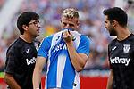CD Leganes's Rodrigo Tarin injured during La Liga match between CD Leganes and Atletico de Madrid at Butarque Stadium in Madrid, Spain. August 25, 2019. (ALTERPHOTOS/A. Perez Meca)