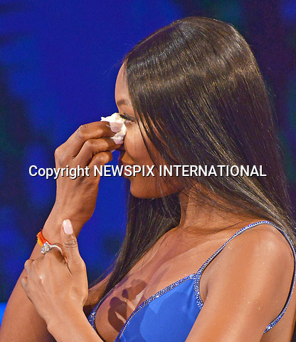 12.03.2017; Milano, Italy: NAOMI CAMPBELL<br /> broke down in tears as she spoke to chat show host Fabio Fazio about the late Italian Vogue editor&nbsp;Franca Sozzani, on the Italian TV show &ldquo;Che Tempo Che Fa&rdquo;.<br />46-year-old Naomi, showed off her stunning figure in a jewel-encrusted royal blue gown, featuring a thigh-high split.<br />Mandatory Credit Photo: &copy;NEWSPIX INTERNATIONAL<br /><br />PHOTO CREDIT MANDATORY!!: NEWSPIX INTERNATIONAL(Failure to credit will incur a surcharge of 100% of reproduction fees)<br /><br />IMMEDIATE CONFIRMATION OF USAGE REQUIRED:<br />Newspix International, 31 Chinnery Hill, Bishop's Stortford, ENGLAND CM23 3PS<br />Tel:+441279 324672  ; Fax: +441279656877<br />Mobile:  0777568 1153<br />e-mail: info@newspixinternational.co.uk<br />Please refer to usage terms. All Fees Payable To Newspix International