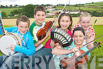 HIGH NOTES: Brosna musicians who are taking part in the All ireland feile Cheoil in Tullamore at the weekend..L/r. Gearoid Curtin, Maurice O'Keeffe, Sara O'Keeffe, Ann Marie Fitzgerald and Suzanne Curtin.   Copyright Kerry's Eye 2008