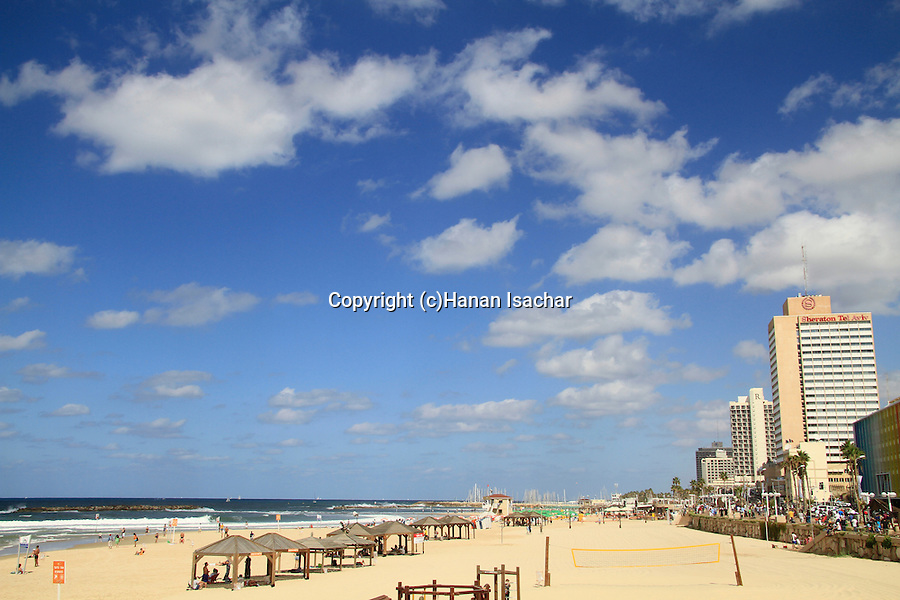 Israel, hotels by the beach of Tel Aviv
