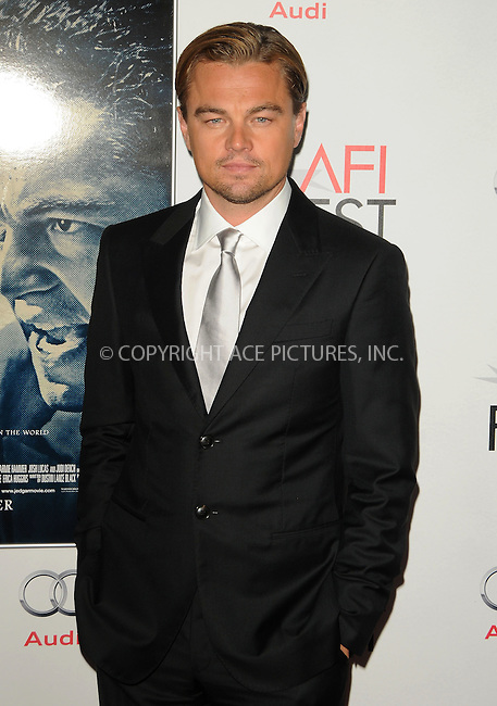WWW.ACEPIXS.COM . . . . .  ....November 3 2011, LA....Actor Leonardo DiCaprio arriving at the AFI FEST 2011 Presented By Audi - 'J. Edgar' Opening Night Gala at Grauman's Chinese Theatre on November 3, 2011 in Hollywood, California.....Please byline: PETER WEST - ACE PICTURES.... *** ***..Ace Pictures, Inc:  ..Philip Vaughan (212) 243-8787 or (646) 679 0430..e-mail: info@acepixs.com..web: http://www.acepixs.com