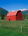 Wallowa County, OR<br /> The Buckles Barn near Hurricane Creek in the Wallowa Valley under the Wallowa Mountains