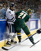 Denny Kearney (Yale - 19), Jack Downing (Vermont - 21) - The University of Vermont Catamounts defeated the Yale University Bulldogs 4-1 in their NCAA East Regional Semi-Final match on Friday, March 27, 2009, at the Bridgeport Arena at Harbor Yard in Bridgeport, Connecticut.