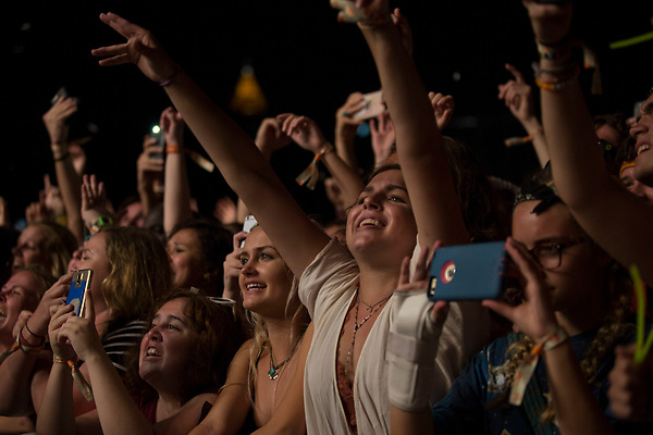 Fans light up as Mumford and Sons caps off the night at Music Midtown Sunday.