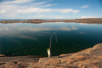 First Cast on Sylvia Grinnell River Iqaluit, Nunavut