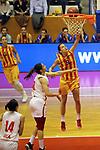 Catalunya vs Montenegro: 83-57.<br /> Dragana Zivkovic vs Queralt Casas.