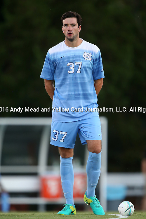 13 September 2016: North Carolina's Walker Hume. The University of North Carolina Tar Heels hosted the East Tennessee State University Buccaneers at Fetzer Field in Chapel Hill, North Carolina in a 2016 NCAA Division I Men's Soccer match. ETSU won the game 1-0 in sudden death overtime.