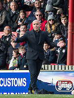 Grimsby Town Manager Marcus Bignot during the Sky Bet League 2 match between Grimsby Town and Wycombe Wanderers at Blundell Park, Cleethorpes, England on 4 March 2017. Photo by Andy Rowland / PRiME Media Images.