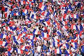 June 13th 2017, Stade de France, Paris, France; International football friendly, France versus England; French supporters waving flags