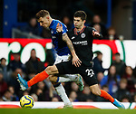 Lucas Digne of Everton tackled by Christian Pulisic of Chelsea during the Premier League match at Goodison Park, Liverpool. Picture date: 7th December 2019. Picture credit should read: Simon Bellis/Sportimage