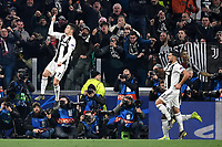 Cristiano Ronaldo of Juventus celebrates after scoring  on penalty goal of 3-0 during the Uefa Champions League 2018/2019 round of 16 second leg football match between Juventus and Atletico Madrid at Juventus stadium, Turin, March, 12, 2019 <br />  Foto Andrea Staccioli / Insidefoto