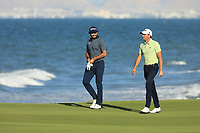 Benjamin Hebert (FRA) and Clement Sordet (FRA) during the final round of the Oman Open, Al Mouj Golf, Muscat, Sultanate of Oman. 03/03/2019<br /> Picture: Golffile | Phil Inglis<br /> <br /> <br /> All photo usage must carry mandatory copyright credit (&copy; Golffile | Phil Inglis)