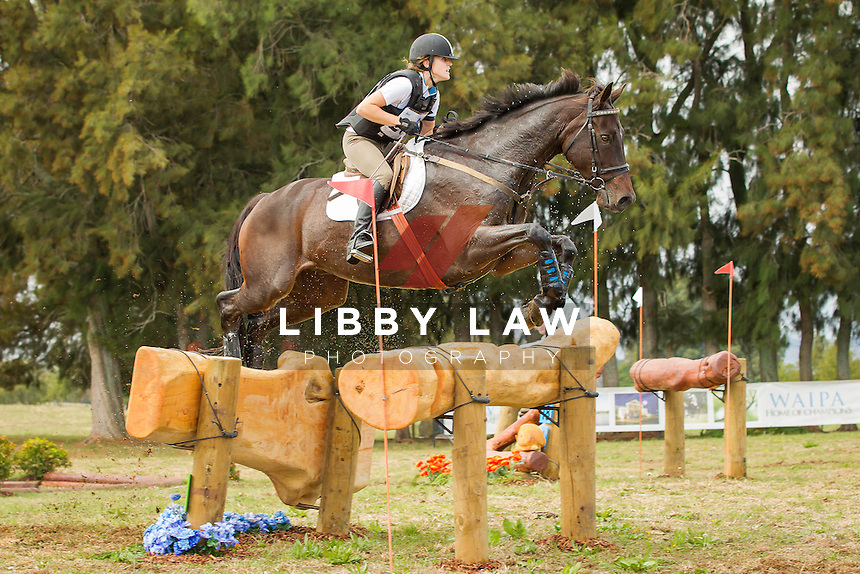 NZL-Chloe Phillips-Harris (COR JET) INTERIM-5TH: CIC2* CROSS COUNTRY: 2014 NZL-BNZ Kihikihi International Horse Trial (Saturday 12 April) CREDIT: Libby Law COPYRIGHT: LIBBY LAW PHOTOGRAPHY - NZL