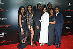 "Cast members (left to right) Ajiona Alexus, Crystle Stewart, Lyriq Bent, Taraji P. Henson, director Tyler Perry Ptosha Storey, and Antonio Madison arrive on the red-carpet for Tyler Perry""s ACRIMONY movie premiere at the School of Visual Arts Theatre in New York City, on March 27, 2018."