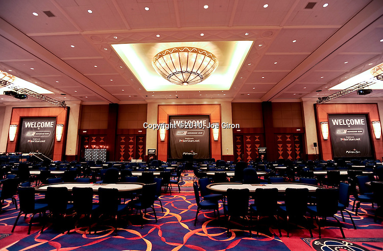 A view of the main event tournament area at Mohegan Sun, the day prior to play.