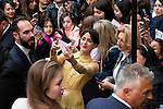 "Martina Stoessel with the fans during the premiere of the film ""Tini. El gran cambio de Violetta"" at Callao Cinema in Madrid. April 27, 2016. (ALTERPHOTOS/Borja B.Hojas)"