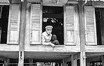 Local man in remote village of Mai Chau, Vietnam