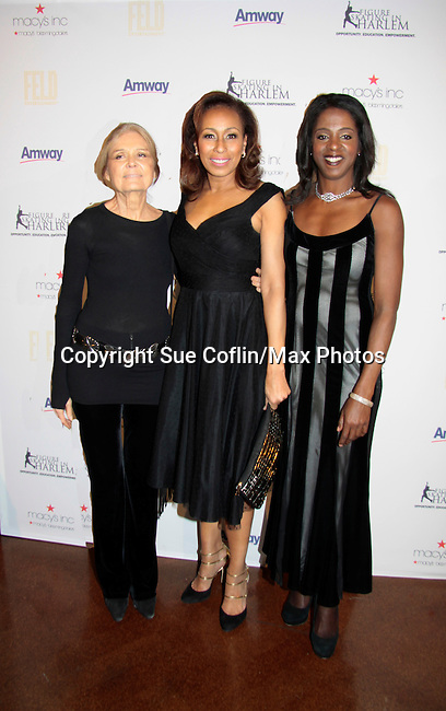 Gloria Steinem - Tamara Tunie - Stacey Tisdale - 10th Annual Gala celebrating Figure Skating in Harlem's 18th year of operations at The Stars 2015 Benefit Gala on April 13, 2015 in New York City, New York honoring Olympic Champion Evan Lysacek, Gloria Steinem and Nicole, Alana and Juliette Feld with Mary Wilson as Mistress of Ceremony. (Photos by Sue Coflin/Max Photos)