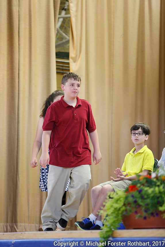 The Oneonta Greater Plains elementary school fifth grade awards ceremony, on June 21, 2017.<br /> &copy; Michael Forster Rothbart Photography<br /> www.mfrphoto.org &bull; 607-267-4893<br /> 34 Spruce St, Oneonta, NY 13820<br /> 86 Three Mile Pond Rd, Vassalboro, ME 04989<br /> info@mfrphoto.org<br /> Photo by: Michael Forster Rothbart<br /> Date:  6/21/2017<br /> File#:  Canon &mdash; Canon EOS 5D Mark III digital camera frame C19158