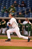 USF Bulls infielder/outfielder Kevin Merrell (6) at bat during a game against the Louisville Cardinals on February 14, 2015 at Bright House Field in Clearwater, Florida.  Louisville defeated USF 7-3.  (Mike Janes/Four Seam Images)