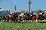 DEL MAR, CA  AUGUST 4:  The field the Yellow Ribbon Handicap (Grade ll) on August 4, 2018 at Del Mar Thoroughbred Club in Del Mar, CA.(Photo by Casey Phillips/Eclipse Sportswire/ Getty Images)