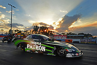 Jan. 16, 2013; Jupiter, FL, USA: NHRA top funny car driver Alexis DeJoria during testing at the PRO Winter Warmup at Palm Beach International Raceway.  Mandatory Credit: Mark J. Rebilas-