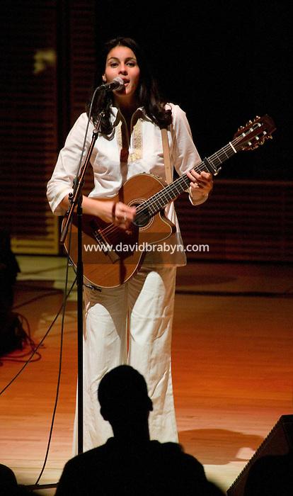 11 November 2004 - New York City, NY - Algerian folk singer Souad Massi performs at the Carnegie Hall in New York City, 11 November 2004.