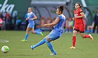 Portland, Oregon - Wednesday June 22, 2016: Chicago Red Stars defender Samantha Johnson (16) during a regular season National Women's Soccer League (NWSL) match at Providence Park.
