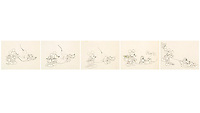 BNPS.co.uk (01202 558833)<br /> Pic: Heritage Auctions/BNPS<br /> <br /> PICTURED:  Mickey Mouse and Pluto Animation Drawings Sequence of 4 from 1933<br /> <br /> A vast collection of original hand-drawn animations from classic Disney movies has emerged for sale at auction.<br /> <br /> Nearly 300 lots have been put up for sale with animation drawings, original concepts, layouts and storyboards among the most appealing items.<br /> <br /> It is believed the group is the largest collection of original hand-drawn Disney animation ever offered in a single auction.