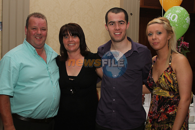 Charlie and Brenda Moore celebrating their wedding anniversary with Craig Brodigan and Danielle Moore at Gerard Fay's 40th in the Westcourt Hotel...(Photo credit should read www.newsfile.ie)....This Picture has been sent you under the conditions enclosed by:.Newsfile Ltd..The Studio,.Millmount Abbey,.Drogheda,.Co Meath..Ireland..Tel: +353(0)41-9871240.Fax: +353(0)41-9871260.GSM: +353(0)86-2500958.email: pictures@newsfile.ie.www.newsfile.ie.